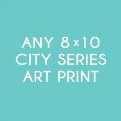 8x10 CITY PRINT ICON