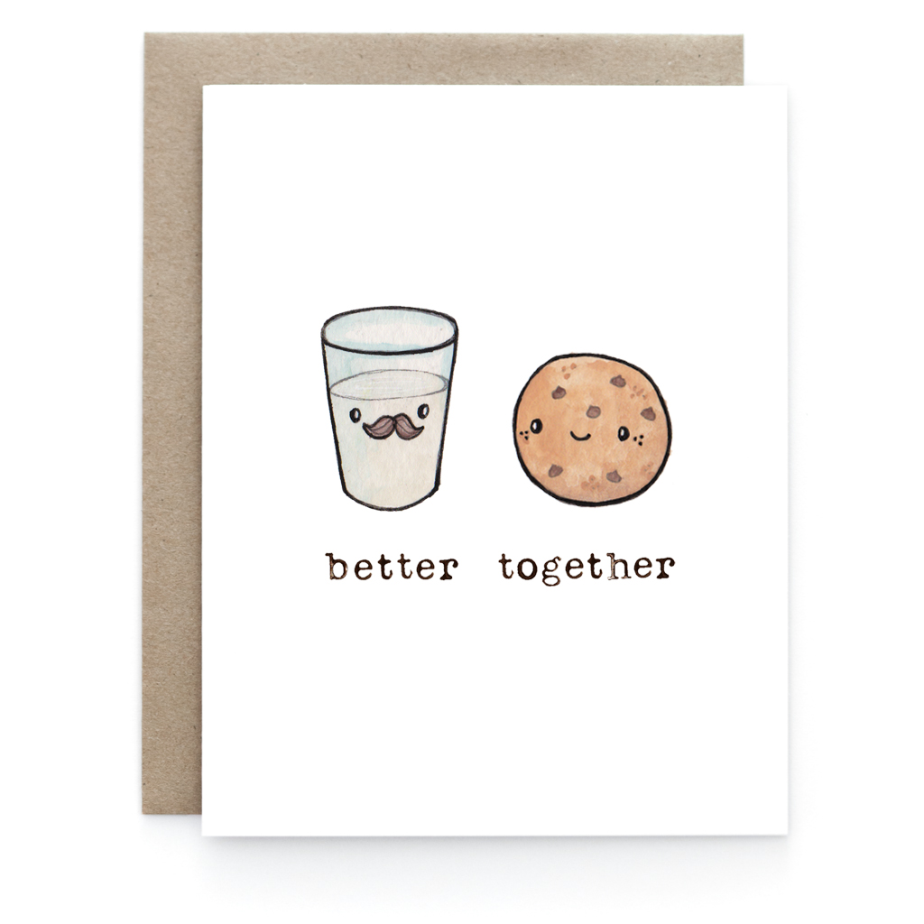 milk cookies better together greeting card art and soul